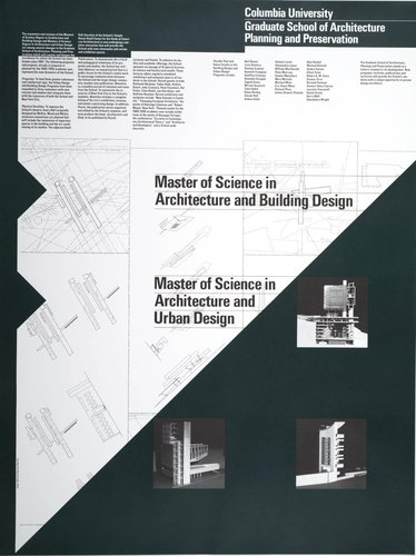 Columbia University, Master of Science in Architecture and Building Design Poster