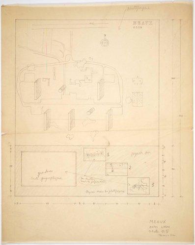 Unités d'Habitation de Meaux [Site plan and exposition of project in Lyon]