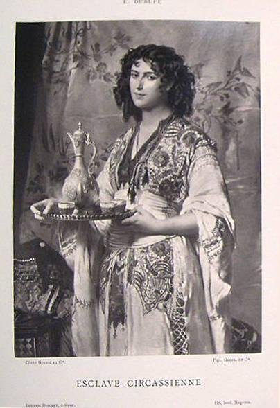 "image of 'Untitled [Reproduction of ""Esclave Circassienne"" by Édouard Dubufe], from the publication Galerie Contemporaine'"