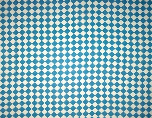 Checkerboard Tablecloth [Blue on White]
