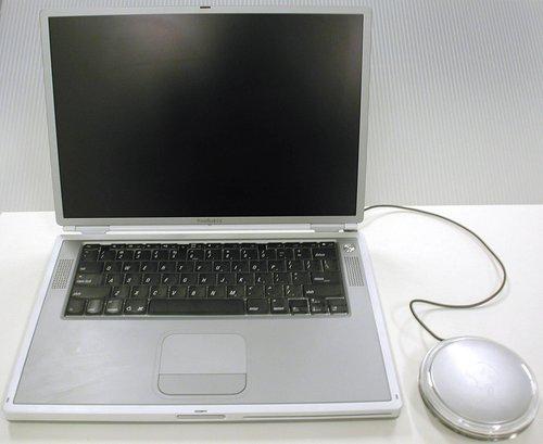 Titanium PowerBook G4 laptop computer