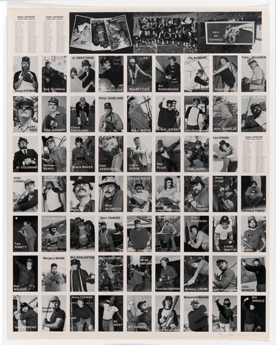 Baseball-Photographer Trading Cards [uncut sheet]