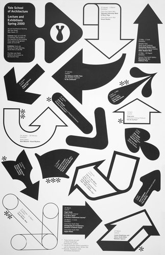 Yale School of Architecture poster for lectures and exhibitions