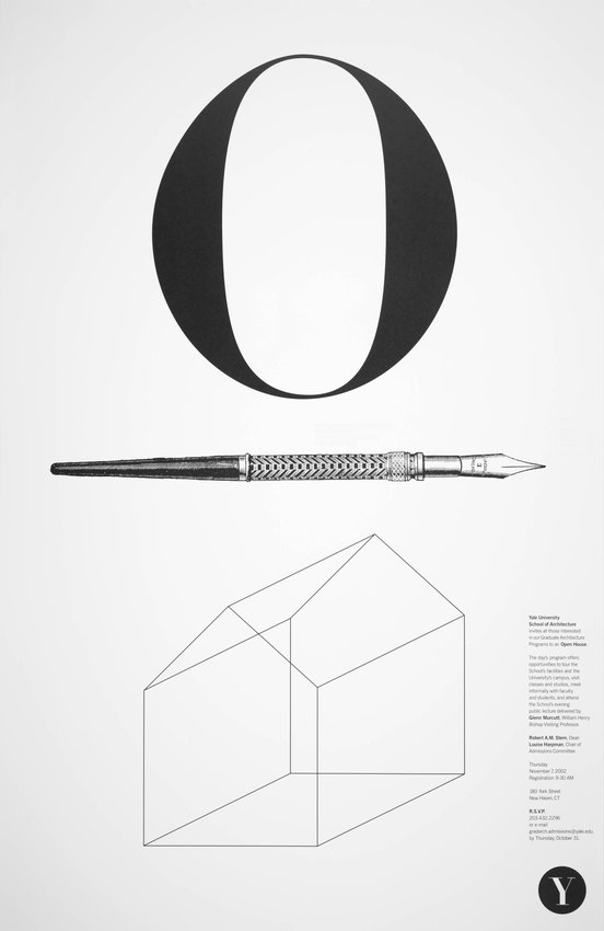 image of Yale School of Architecture poster for an open house