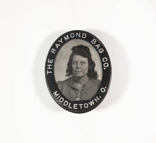 Untitled [Identification badge from the Raymond Bag Company, Middletown, Ohio]