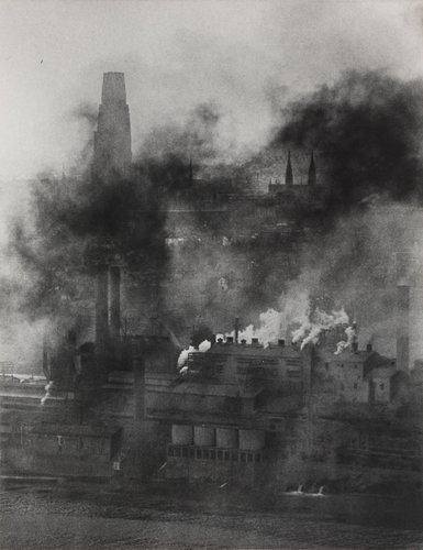 Untitled [Factories with smokestacks], from the essay Pittsburgh, A Labyrinthian Walk