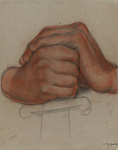 Untitled (Hands of the figure Strength), study for the mural Creation, Bolívar Amphitheater, National Preparatory School, Mexico City