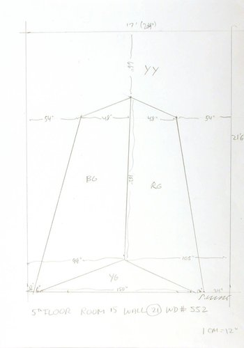 Working drawing for Wall Drawing 552A