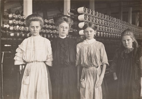 Untitled [Girl spinners in cotton mill, North Carolina]