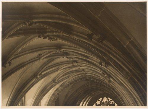 Průhled z kněžiště do horní partie nové části chrámu sv. Víta (The top of the new part of St. Vitus Cathedral, seen from the choir, from the portfolio Svatý Vit, Saint-Guy)
