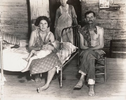 Alabama Cotton Tenant Farmer Family