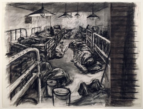 Drawing for the film Tide Table: Dormitory Interior