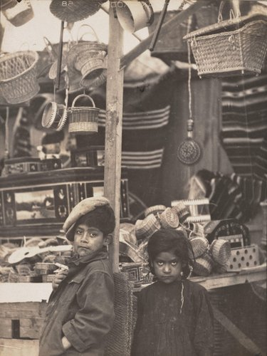 "Untitled [""A stall in the Alameda selling Indian wares""]"