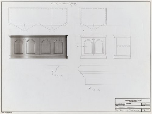 Cabinet design for Mr. and Mrs. John Mailliard