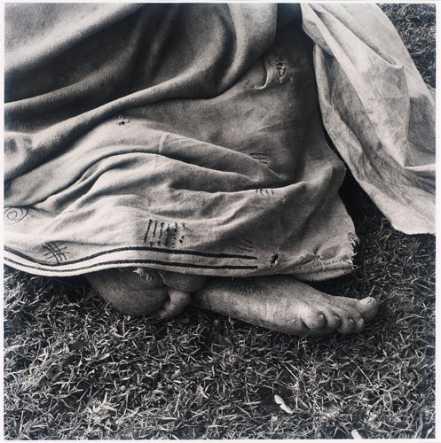 Woman resting at the trading store, Hobeni, Bomvanaland, Transkei. 1975, from the series Particulars