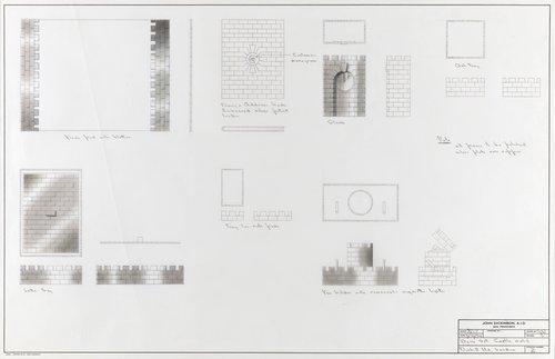 Castle motif desk set, Dunhill Ltd., London