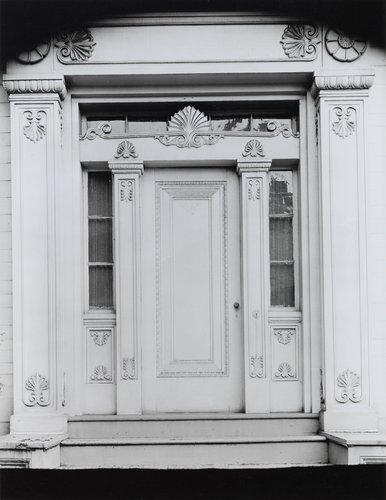 Untitled [Greek Revival doorway with acanthus trim]