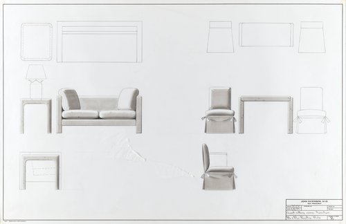 Guest sitting room furniture for Mr. and Mrs. Prentis Hale