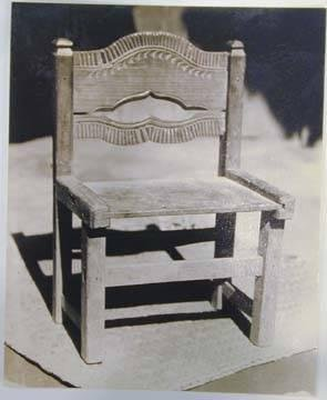 "Untitled [""Chair made by indians for their own use""]"