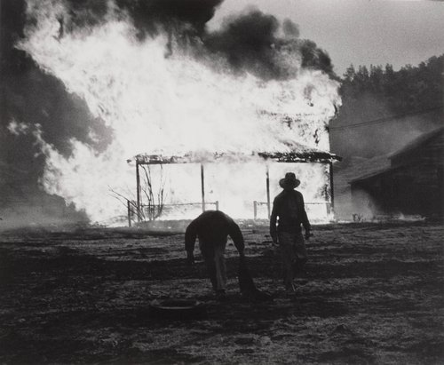Fire is part of the Demolition Process, Berryessa Valley, from the series Death of a Valley