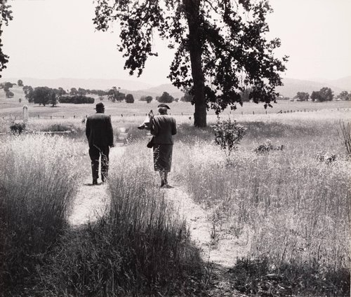 Couple at the Cemetery, from the Back, Berryessa Valley, from the series Death of a Valley