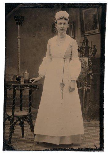 Untitled [Portrait of a nurse]