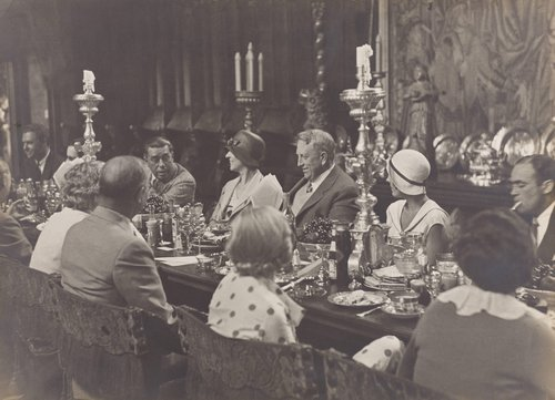 William Randolph Hearst and Dinner Guests at San Simeon