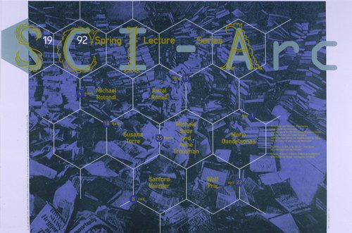 Sci-Arc Spring 1992 Lecture Series poster
