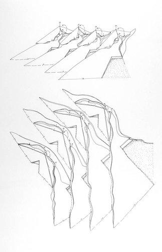 Geomorphic Conversation: Terrain Ensembles, from the series Civilizing Terrains, 1989