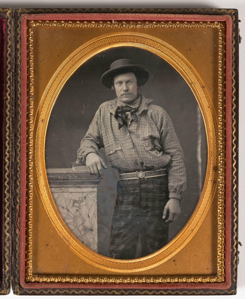 image of Untitled [Miner with plaid pants]