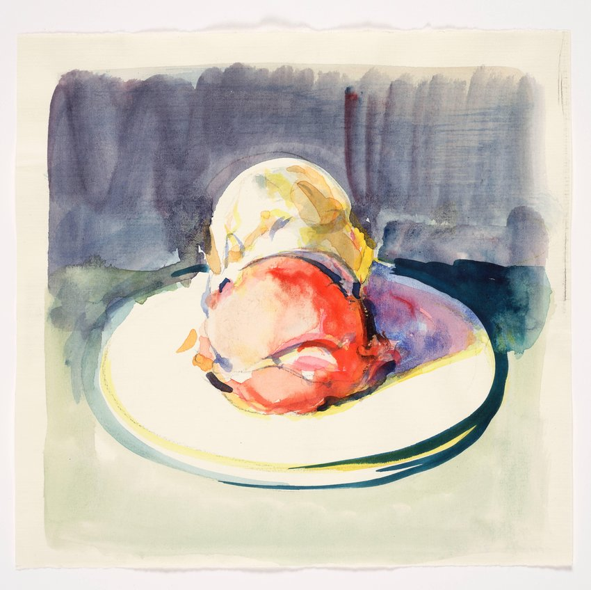 image of Untitled (Two Ice Cream Scoops on Plate)