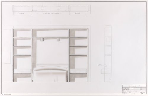 Oak bookcase for Del Valle and Davies