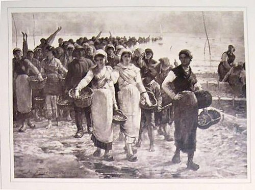 "Untitled [Reproduction of ""Retour de la Pêche aux Huitres par les Grandes Marées, a cancale"" by Feyen-Perrin], from the publication Galerie Contemporaine"