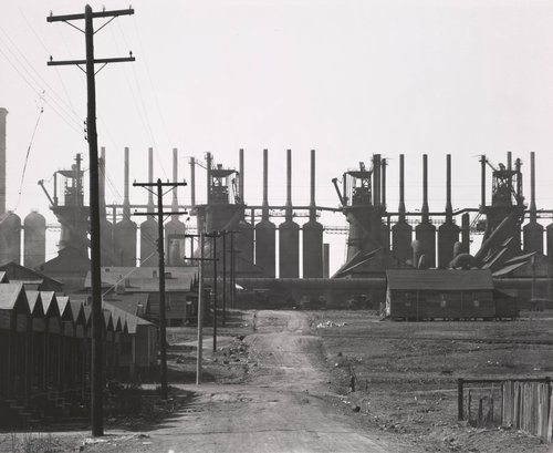 Birmingham Steel Mill and Workers' Houses