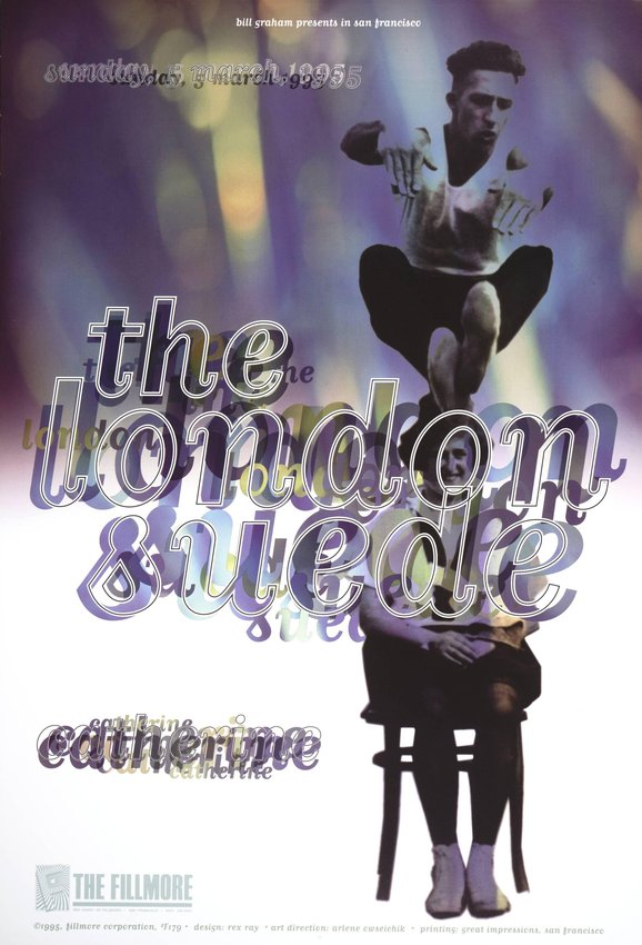 image of 'The London Suede, Catherine; The Fillmore, San Francisco; March 5, 1995'