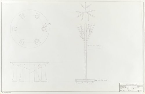 Floor lamp armature for plaster collection