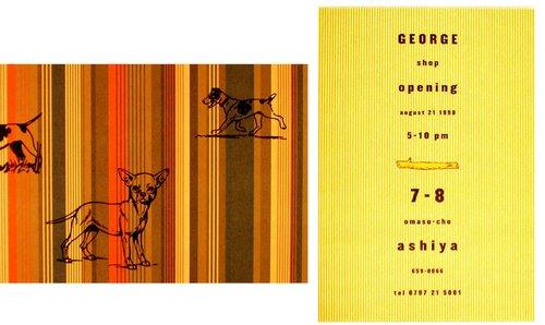 George Tokyo Shop Announcement (card)