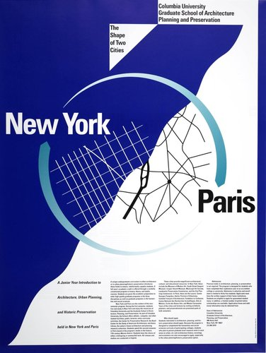 Columbia University, New York-Paris poster