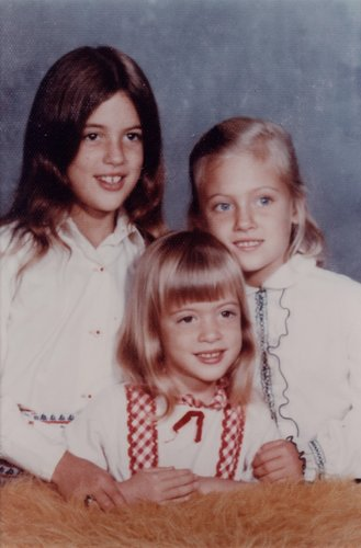 Judy's Daughters (A Long Time Ago) Kara, Valerie, and Dana, from the series Museum Visitor Wallet Photos