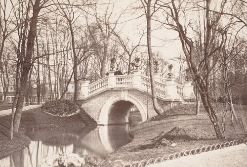 Parc Monceau, rivière et pont (Monceau Park, River and Bridge)