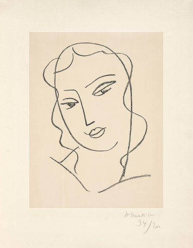 "Etude pour la vierge ""Visage"" (Study for the Virgin ""Face"")"