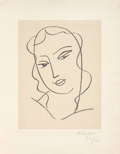 """Etude pour la vierge """"Visage"""" (Study for the Virgin """"Face"""")"""