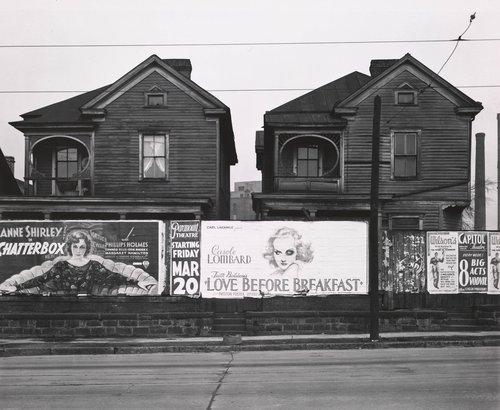 Billboards and Frame Houses, Atlanta, Georgia