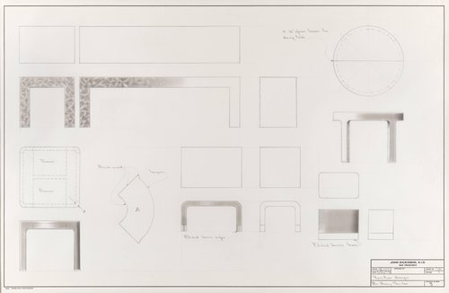 Furniture designs for Mrs. Henry Sicular