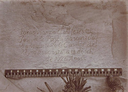 Historic Spanish Record of the Conquest, South Side of Inscription Rock, N.M. No. 3