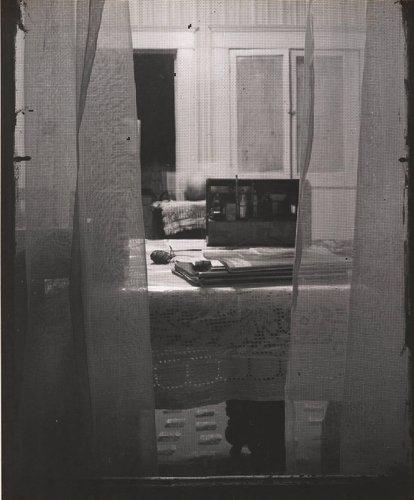 Untitled [Interior Through Screen Window]