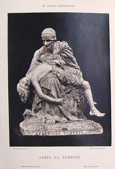 """image of 'Untitled [Reproduction of """"Après la Tempête"""" by Sarah Bernhardt], from the publication Galerie Contemporaine'"""