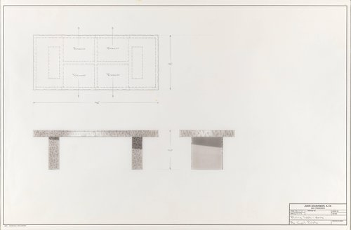 Dining table/desk for Mr. Cyril Peletz