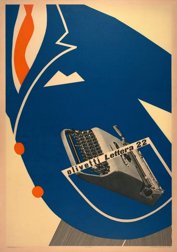 Poster for Olivetti Lettera 22 portable typewriter
