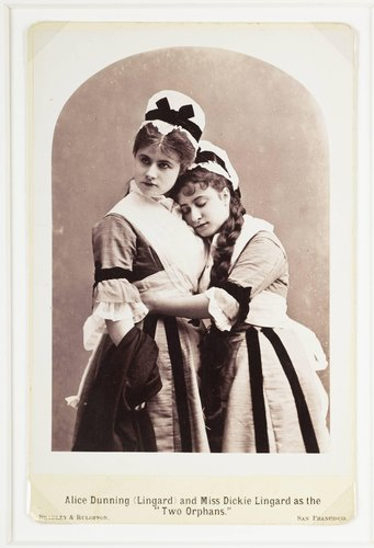 "Alice Dunning (Lingard) and Miss Dickie Lingard as the ""Two Orphans"""